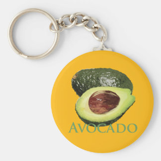 Avocado and Half Key Ring