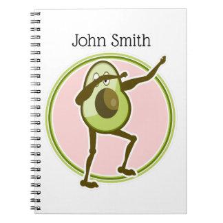 Avocado Dabbing Notebook