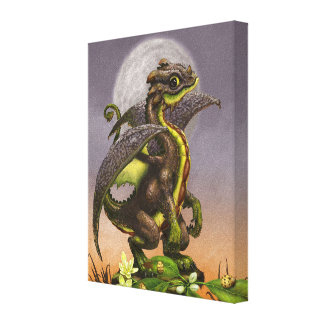 Avocado Dragon 8x10 Canvas Print