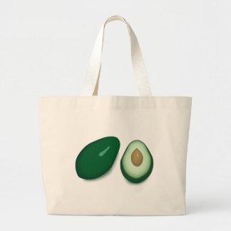 Avocado Drawing Large Tote Bag