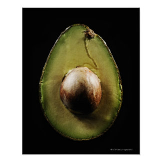 Avocado,Fruit,Black background Poster