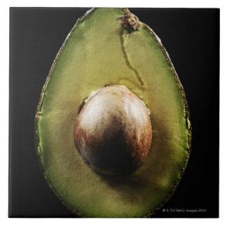 Avocado,Fruit,Black background Tile
