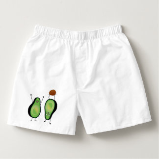 Avocado funny cheering handstand green pit boxers