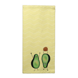 Avocado funny cheering handstand green pit napkin