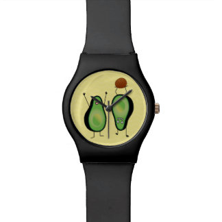 Avocado funny cheering handstand green pit watch