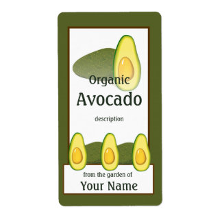 Avocado Gardener Label Shipping Label