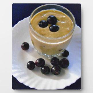 Avocado grape smoothie plaques