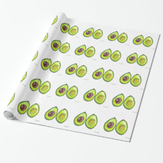 Avocado green fruit wrapping paper