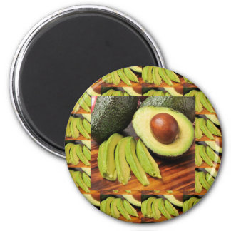 AVOCADO healthy foods ingredient sauces chutney 6 Cm Round Magnet