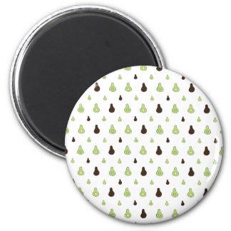 Avocado Pattern 6 Cm Round Magnet