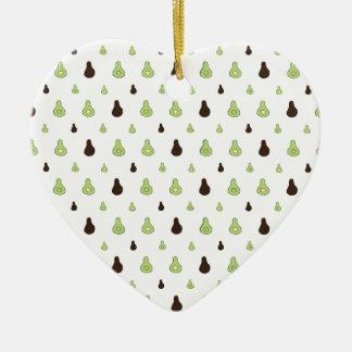 Avocado Pattern Ceramic Ornament