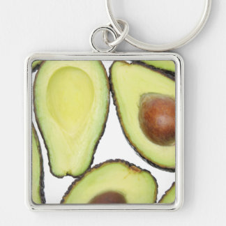 Avocado Pattern Key Ring