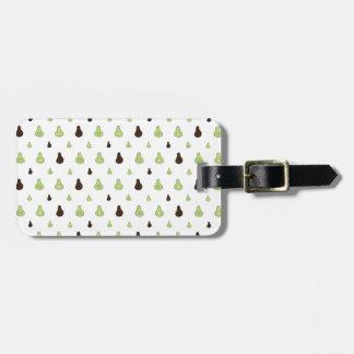 Avocado Pattern Luggage Tag