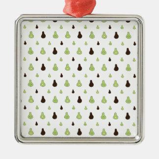 Avocado Pattern Metal Ornament
