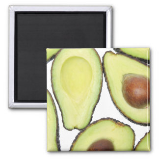Avocado Pattern Square Magnet