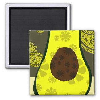 Avocado Pickle Square Magnet