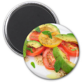 Avocado Salad 6 Cm Round Magnet