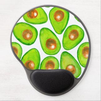 Avocado slices watercolor gel mouse pad