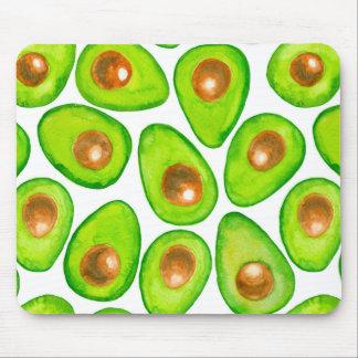 Avocado slices watercolor mouse pad