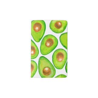 Avocado slices watercolor pocket moleskine notebook