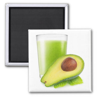 Avocado smoothie square magnet