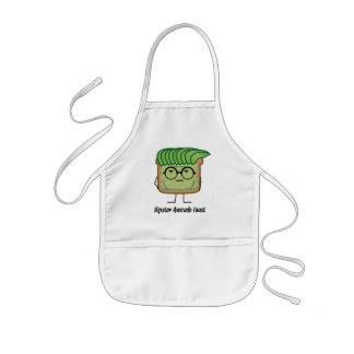 Avocado Toast Hipster glasses greaser hair Kids Apron