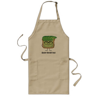 Avocado Toast Hipster glasses greaser hair Long Apron
