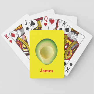 Avocado Yellow Red 4James (Name) Playing Cards
