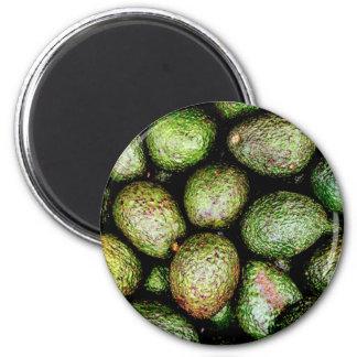 Avocados 6 Cm Round Magnet