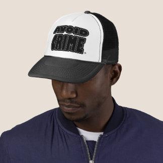 Avoid Crime Black Worded Trucker-Hat Trucker Hat