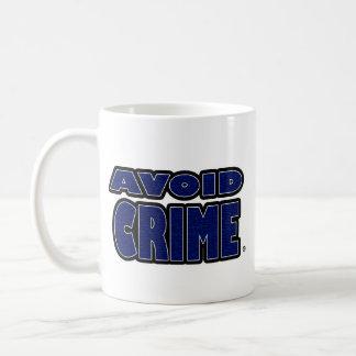 Avoid Crime Blue Worded Mug