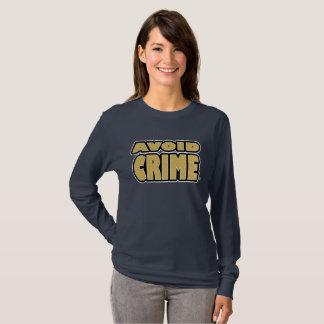 Avoid Crime Gold Worded T-Shirt