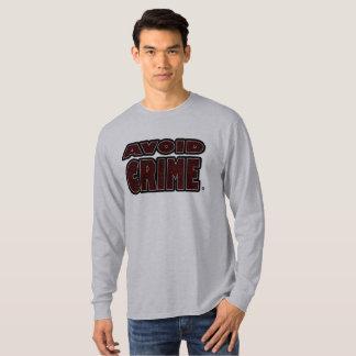 Avoid Crime Red Worded T-Shirt