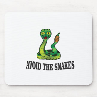 avoid the snakes mouse pad