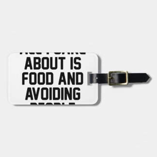 Avoiding People Luggage Tag