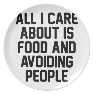 Avoiding People Plate