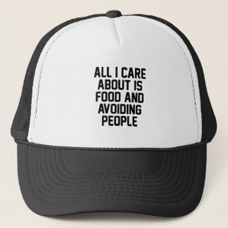 Avoiding People Trucker Hat