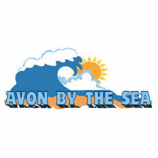 Avon by the Sea. Photo Sculpture Magnet