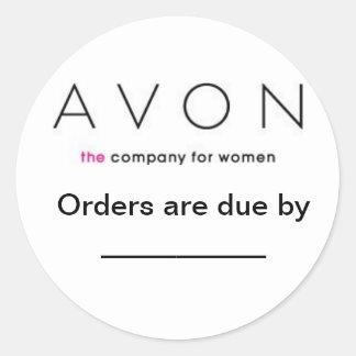 Avon Order due labels