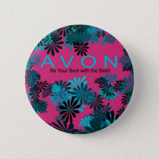 AVON pink and blue Motivational button
