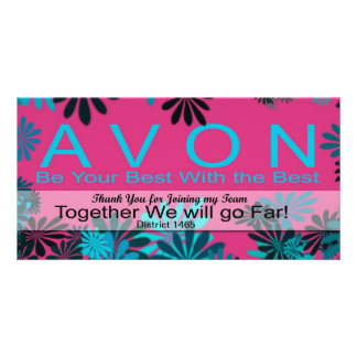 AVON Thank YOU for Joining my Team Card Customized Photo Card