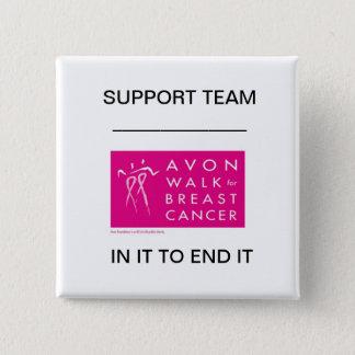 avon-walk-against-breast-cancer 15 cm square badge