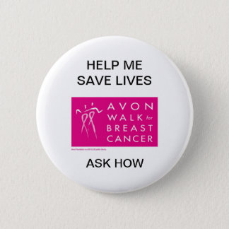 avon-walk-against-breast-cancer 6 cm round badge