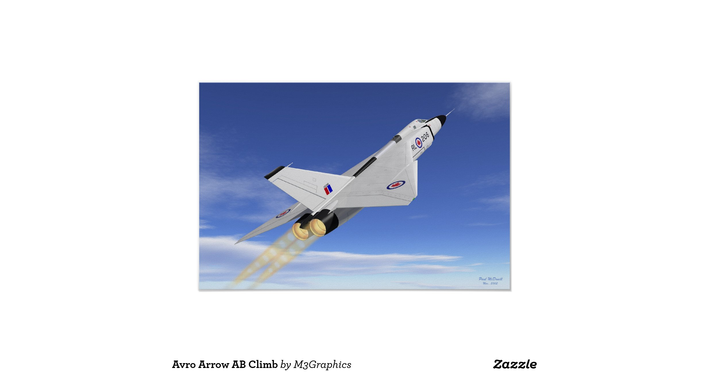 Avro Arrow- RL202 low angle Poster