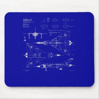 Avro Arrow Blueprint Mousepad