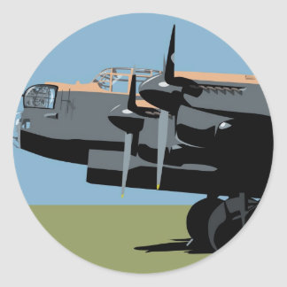 Avro Lancaster Bomber Classic Round Sticker