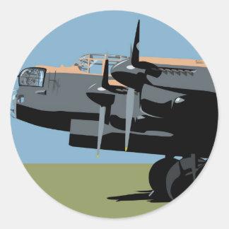 Avro Lancaster Bomber Round Sticker