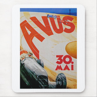 Avus Automobile Racing Poster Mouse Pad