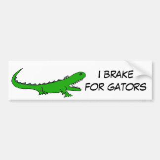 AW- Brake for Gators Bumper Sticker