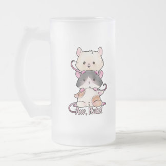 Aw, Rats! Frosted Glass Beer Mug
